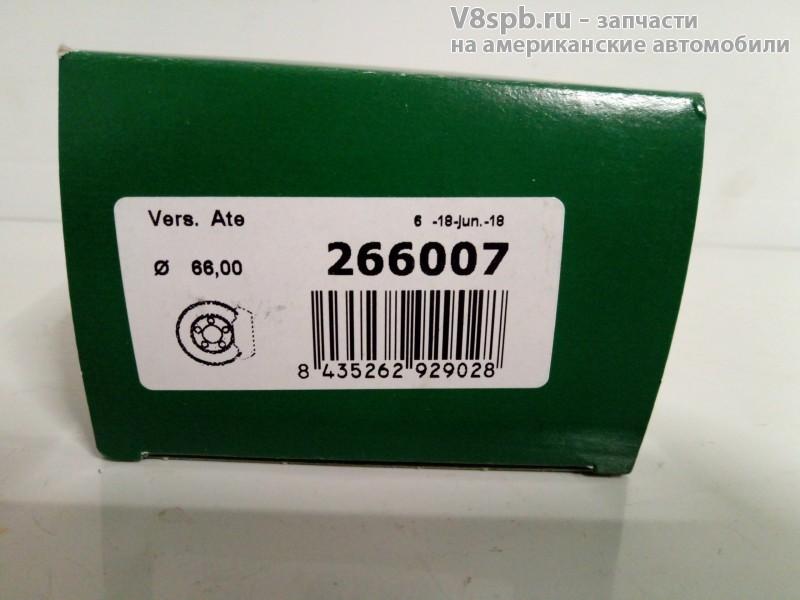 266007 Ремкомплект переднего суппорта 66mm (пыльник+манжета)